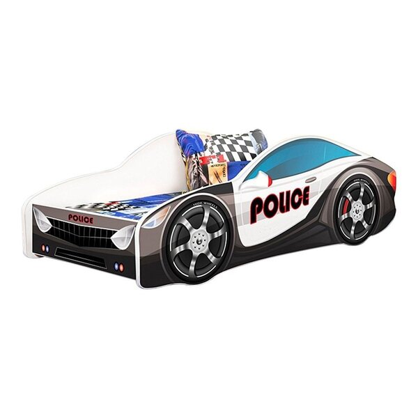 Grieco Kid Cop Police Twin Car Bed by Zoomie Kids