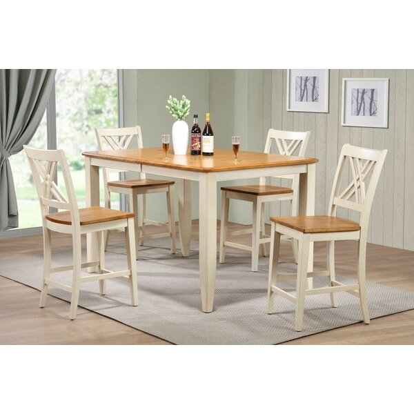 Mtmere 5 Piece Extendable Solid Wood Dining Set by Red Barrel Studio Red Barrel Studio
