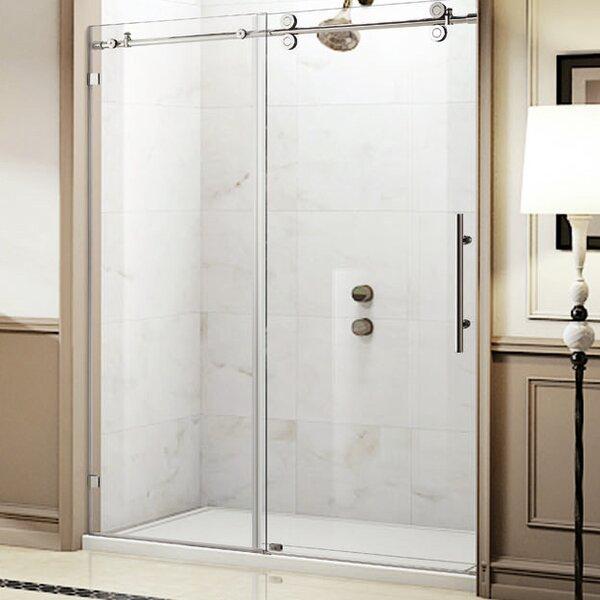 Trident Lux 60'' x 76'' Single Sliding Frameless Shower Door by Wet Republic