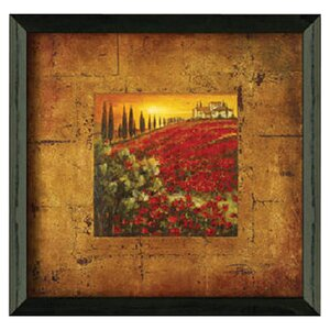 'Red Poppies I' Framed Painting Print by Fleur De Lis Living