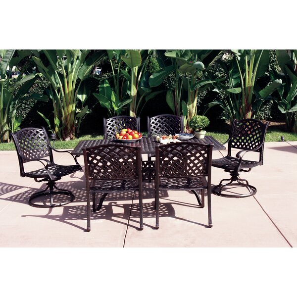 Lincolnville 7 Piece Dining Set with Cushions by Fleur De Lis Living