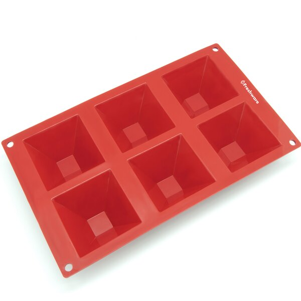 6 Cavity Pyramid Silicone Mold Pan by Freshware