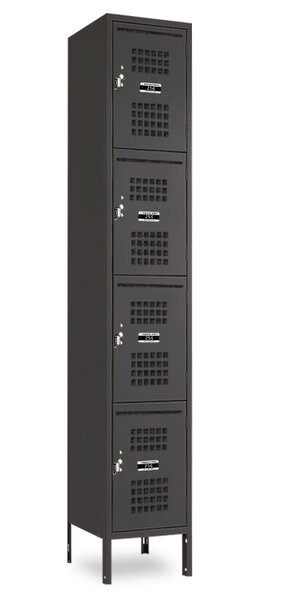4 Tier 1 Wide Employee locker by Jorgenson Lockers