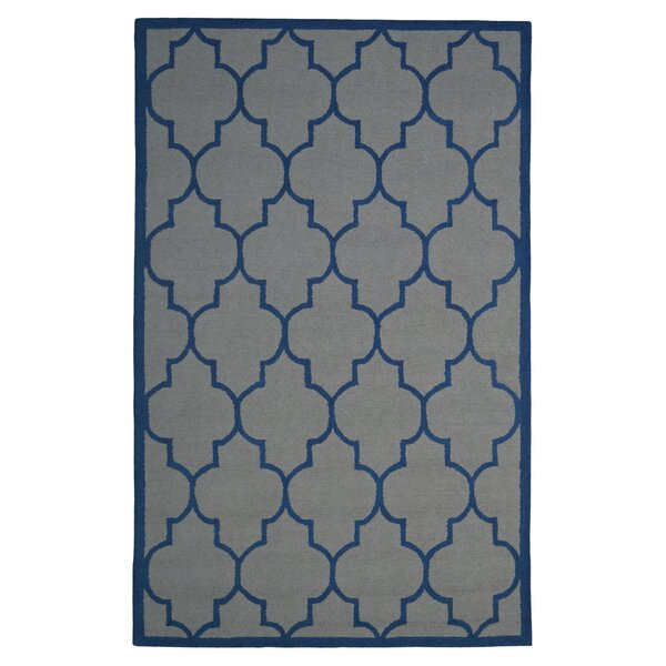 Wool Hand-Tufted Gray/Blue Area Rug by Eastern Weavers