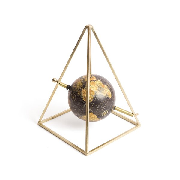 Topographical Decorative Base Globe by Mercury Row