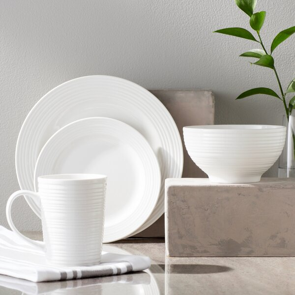 Colleen 16 Piece Dinnerware Set Service For 4 By Laurel Foundry Modern Farmhouse.