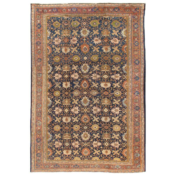 One-of-a-Kind Sultanabad Hand-Knotted Brown 10' x 14'7 Wool Area Rug