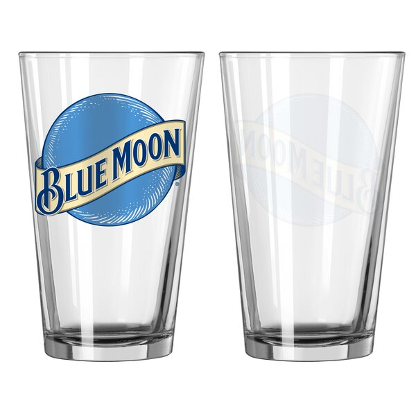 Blue Moon 16 Oz. Glass Pint Glasses (Set of 2) by Boelter Brands