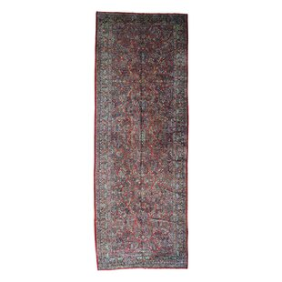 One-of-a-Kind Galan Persian Sarouk Exc Cond Hand-Knotted Red Area Rug