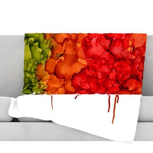 Fall Splatter Throw Blanket by KESS InHouse