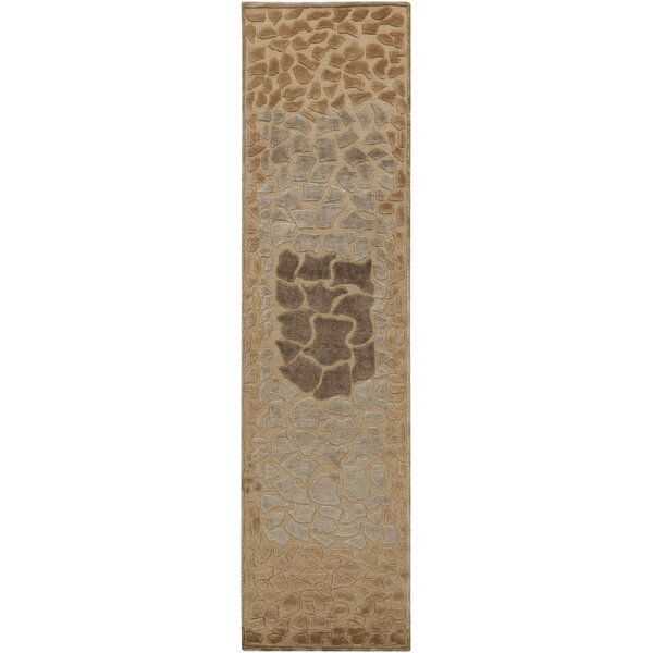 Ferber Taupe Area Rug by Bloomsbury Market