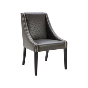 5West Malabar Genuine Leather Upholstered Dining Chair by Sunpan Modern
