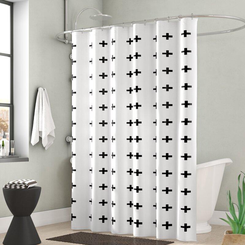 Wrought Studio Monroe Extra Long Signes Fabric Single Shower Curtain Reviews Wayfair Ca