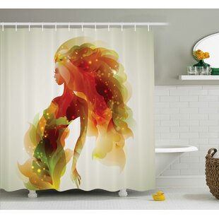 Affordable Florance Girl Abstract Lady Shower Curtain ByEbern Designs