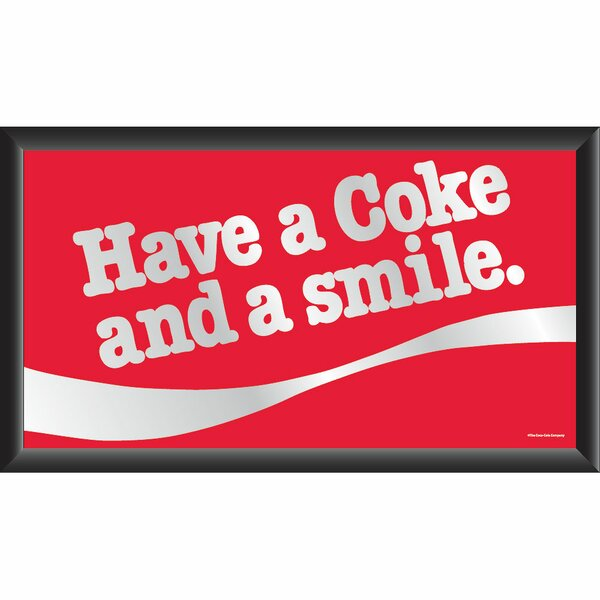 Coca Cola Have a Coke and A Smile Framed Vintage Advertisement by Trademark Global