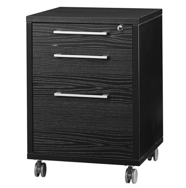Murphree 3-Drawer Mobile Vertical Filing Cabinet by Latitude Run