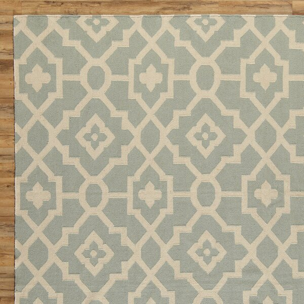 Dana Hand-Woven Blue/Natural Area Rug by Birch Lane™