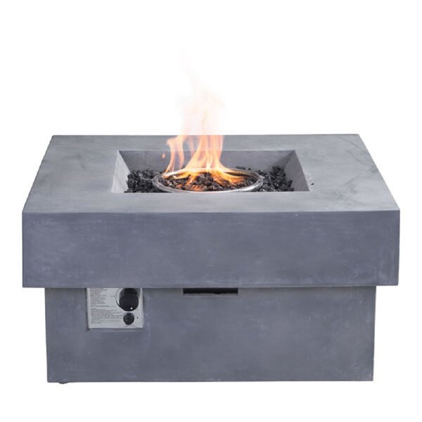 Tyler Concrete Propane Fire Pit by Pyper Marketing LLC