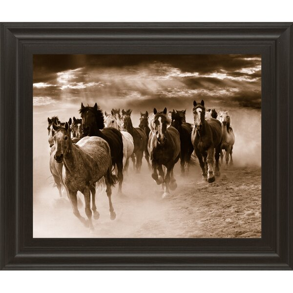 Running Horses by Monte Naglar Framed Photographic Print by Classy Art Wholesalers