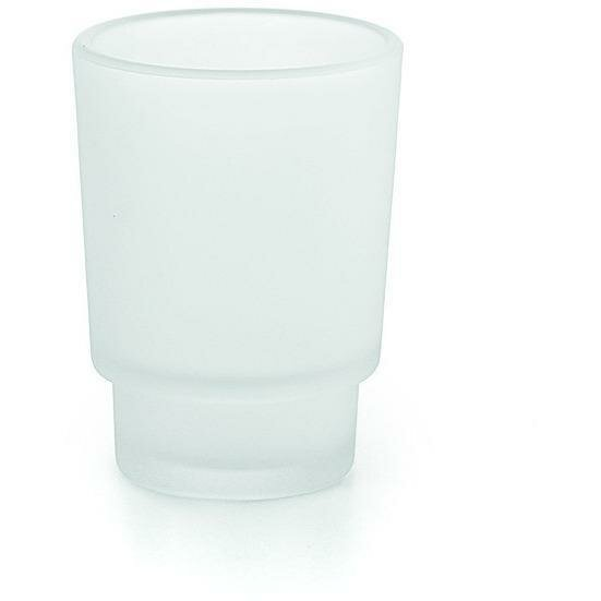 South Lamar Wall Toothbrush Frosted Glass Toothbrush Holder by Orren Ellis