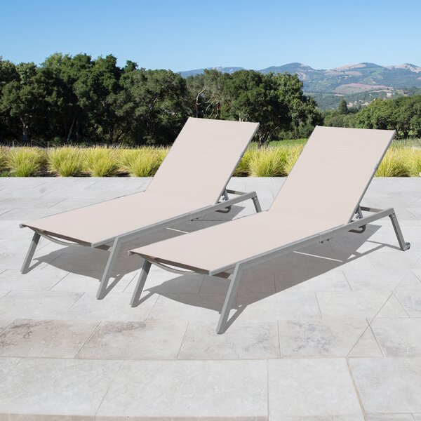 Rondo Adjustable Sling Reclining Chaise Lounge By Zipcode Design