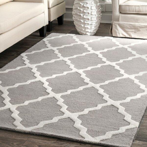 Tadlock Hand-Woven Gray Area Rug by Wrought Studio