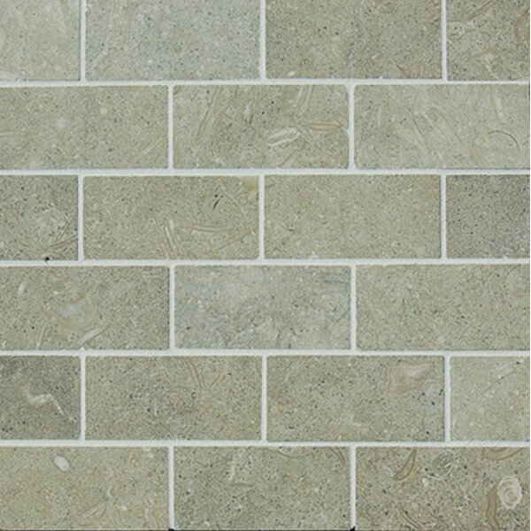 2 x 4 Limestone Mosaic Tile in Seagrass by Epoch Architectural Surfaces