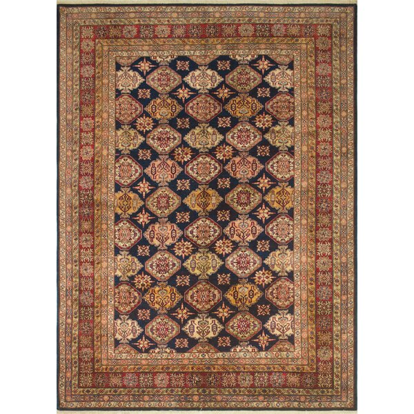 One-of-a-Kind Rockton Hand Knotted Blue/Ivory/Red Area Rug by Astoria Grand