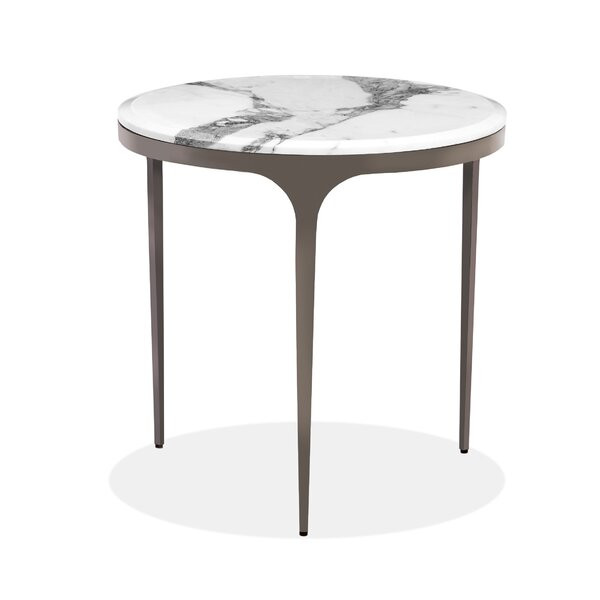 Camilla Glass Top 3 Legs End Table