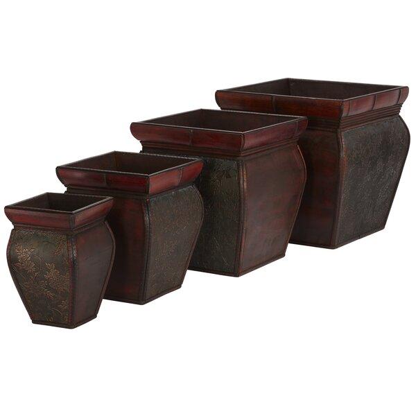 Pembroke Wood Pot Planter (Set of 4) by Bay Isle Home