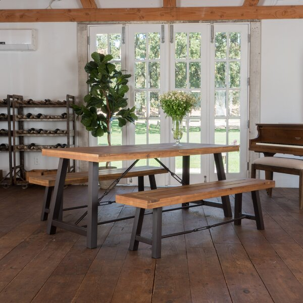 Lebanon 3 Piece Solid Wood Dining Set by Trent Austin Design