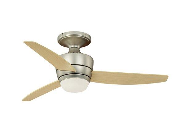 44 Adrian 3-Blade Flushmount DC Ceiling Fan by Vaxcel