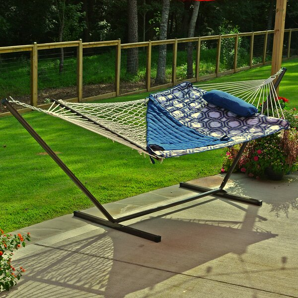 Stinson Cotton Hammock with Stand by Breakwater Bay Breakwater Bay
