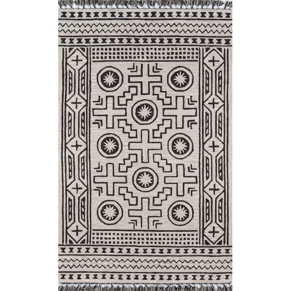 House Hand-Tufted Wool Linen Area Rug by Union Rustic