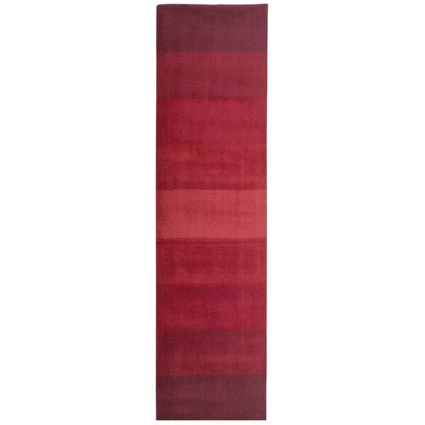 Degarmo Red Stripes Area Rug by Mercury Row