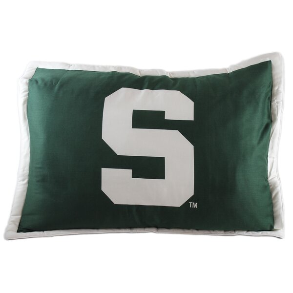 NCAA Michigan State Pillow Sham by College Covers