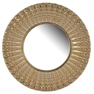 Andover Mills Betty Round Polyresin Accent Wall Mirror