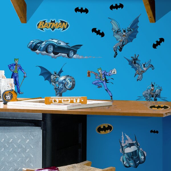 Favorite Characters 31 Piece Batman Gotham Guardian Wall Decal by Room Mates