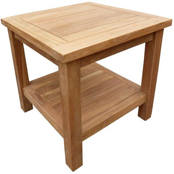 Cortright Solid Wood Side Table by Highland Dunes