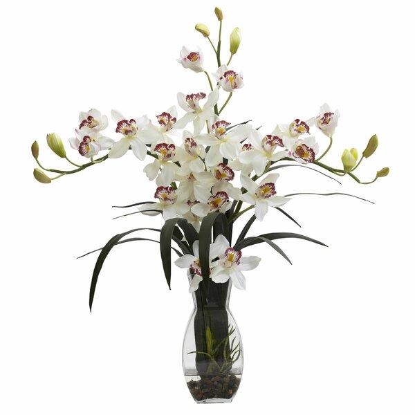 Triple Cymbidium Arrangement in Vase by Nearly Natural