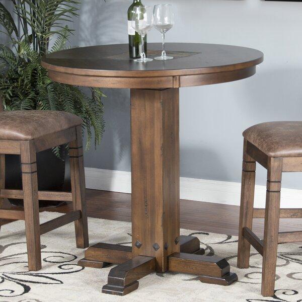 Birney Adjustable Height Pub Table Set by Loon Peak