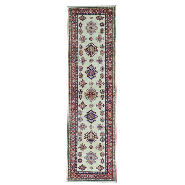 One-of-a-Kind Kempinski Natural Dyes Hand-Knotted Red/Blue Area Rug by Canora Grey