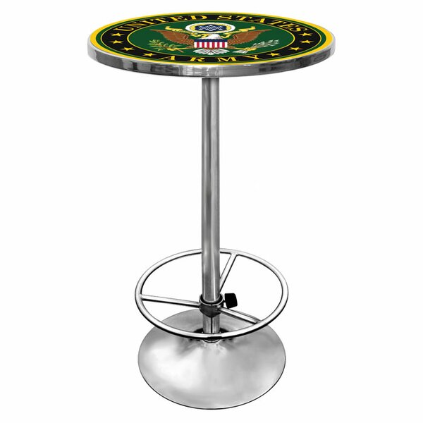 Modern Army Logo Pub Table II By Trademark Global Today Sale Only