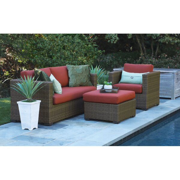 Bram 3 Piece Sunbrella Sofa Seating Group with Sunbrella Cushions by Longshore Tides