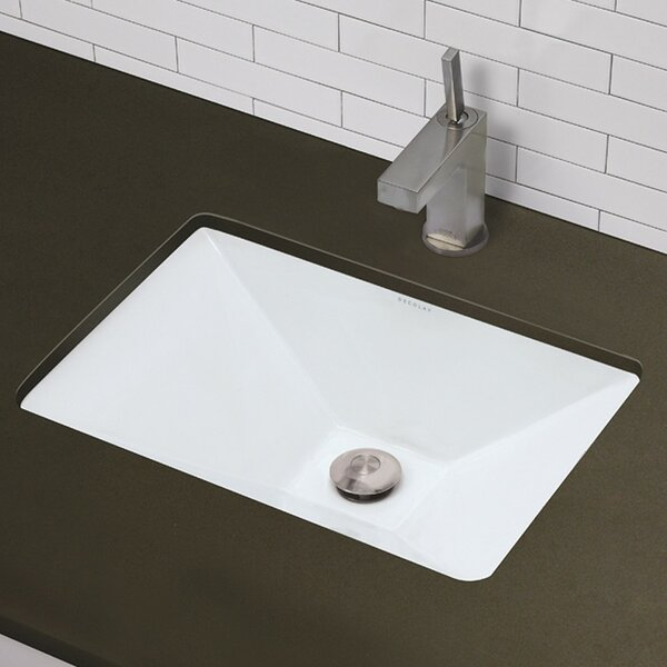 Amabella Classically Redefined Ceramic Rectangular Undermount Bathroom Sink with Overflow by DECOLAV