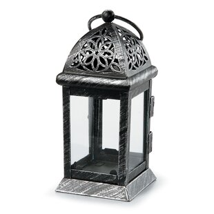 Inexpensive Distressed Metal Lantern By Bloomsbury Market