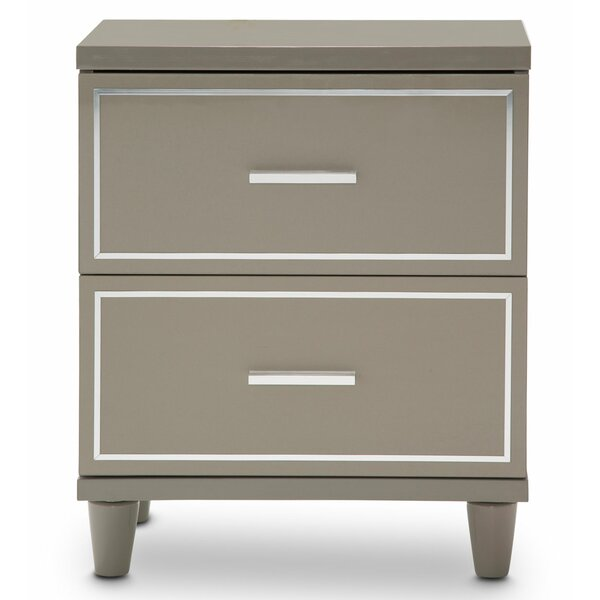 Urban Place 2 Drawer Nightstand by Michael Amini