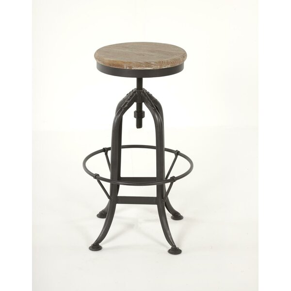 Ramsell Iron Adjustable Height Swivel Bar Stool By Williston Forge