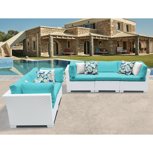 Monaco 5 Piece Sofa Seating Group with Cushions by TK Classics