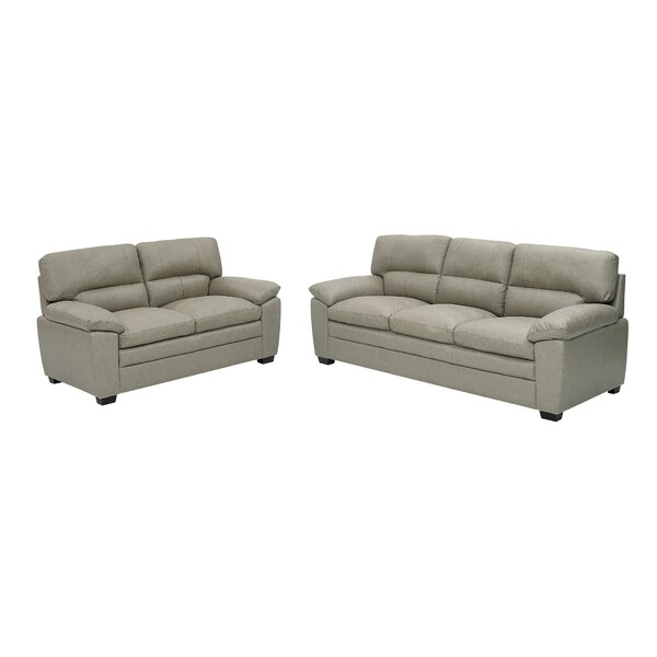 Review Stali 2 Piece Leather Standard Living Room Set